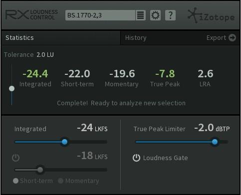 دانلود پلاگین میکس و مسترینگ iZotope RX Loudness Control