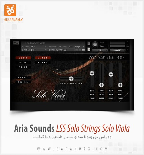 دانلود وی اس تی ویولن Aria Sounds LSS Solo Strings Solo Violin