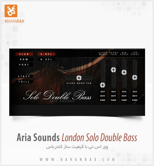 دانلود وی اس تی کنترباس Aria Sounds London Solo Double Bass