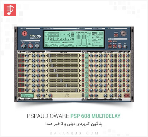 دانلود پلاگین دیلی PSPaudioware PSP 608 MultiDelay